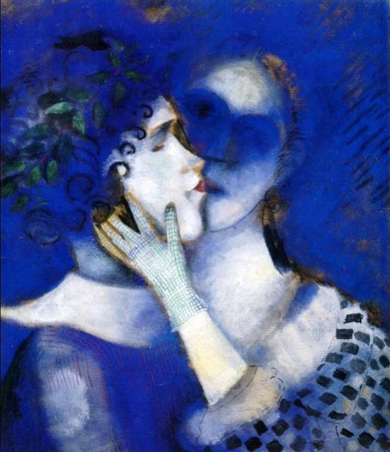 Nome:   1914-Marc-Chagall-1887-1985-Blue-Lovers-1914-2.jpg
