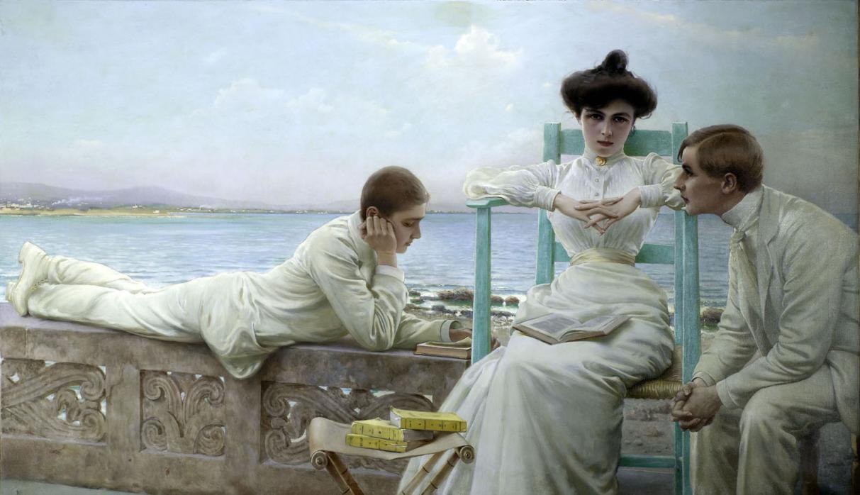Nome:   Vittorio-Corcos-In-lettura-sul-mare-1910-circa-Collezione-privata.jpg Visite:  67 Grandezza:  93.9 KB